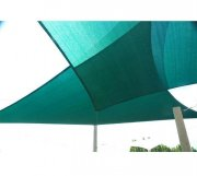 5m x 4m High Density Woven Retangular Shade Sails - Green