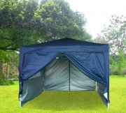 3m x 3m Anti-UV Pop Up Gazebo - Navy Blue