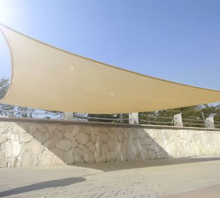 4m x 3m High Density Woven Retangular Shade Sails