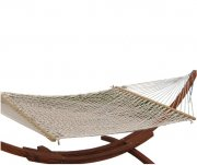 "Extra Wide! 59"" Cotton Rope Double Garden Hammock Bed"