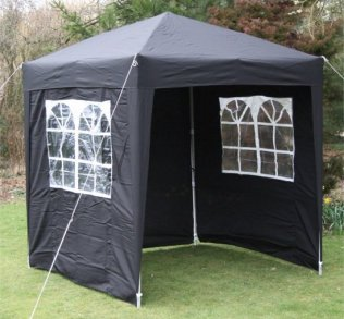 2m x 2m Waterproof Pop Up Gazebo - Black