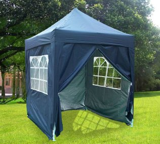 2m x 2m Pyramid Roof Pop Up Gazebo - Navy Blue