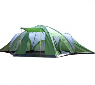 8 Man 4 Room Family Tent for Camping - Green