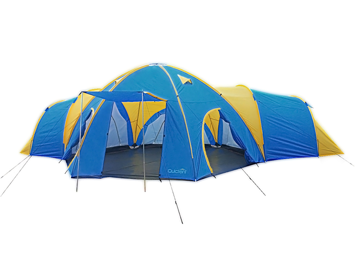 6 - 8 Man 4 Rooms Dome Family C&ing Tent - Blue ...  sc 1 st  Quictent & 6 - 8 Man 4 Room Dome Family Camping Tents - Quictent