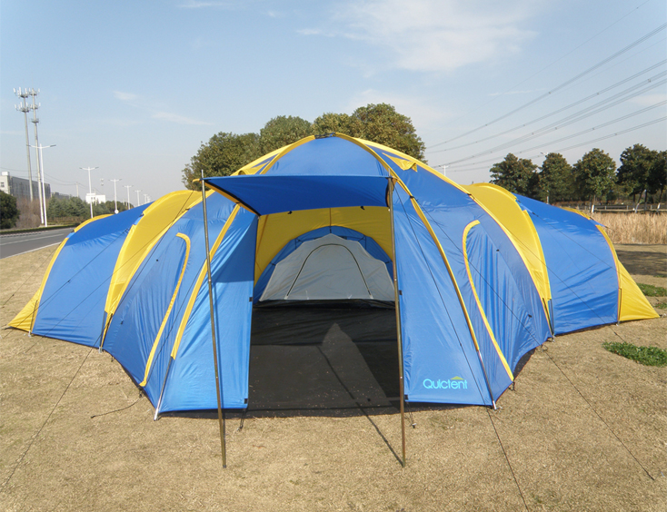 ... 6 - 8 Man 4 Rooms Dome Family C&ing Tent - Blue ... & 6 - 8 Man 4 Room Dome Family Camping Tents - Quictent