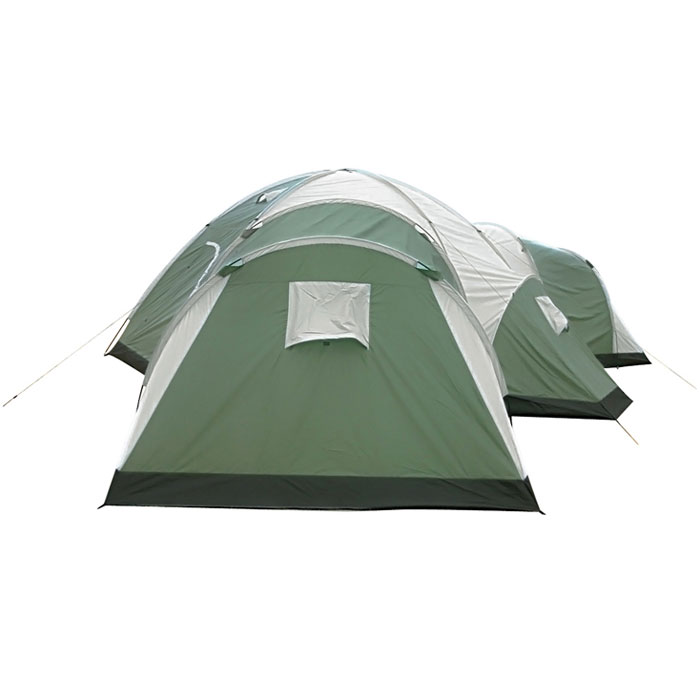 8 Man 4 Room Dome Family Camping Tents - Quictents