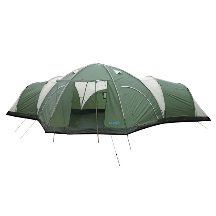8 Man 4 Room Dome Family Camping Tents Quictents