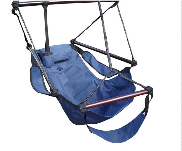 hanging navy blue hammock air swing chair. Black Bedroom Furniture Sets. Home Design Ideas