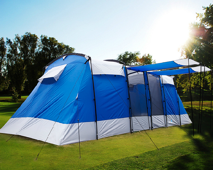 Leaking Garage Tent : Persons large family group camping tent waterproof