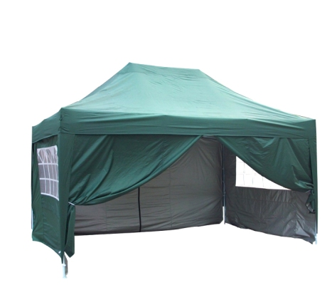 3m x 4.5m Pyramid Roof Pop Up Gazebo - Green