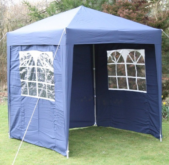 2m X 2m Waterproof Pop Up Gazebo Blue