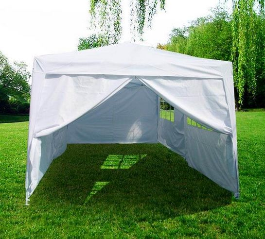 3m x 6m White Heavy Duty Pop Up Gazebo
