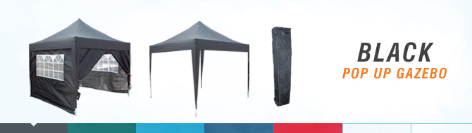 Quictent black pop up gazebo