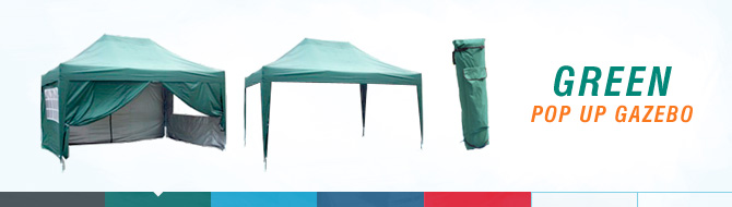 Quictent pop up gazebo - green