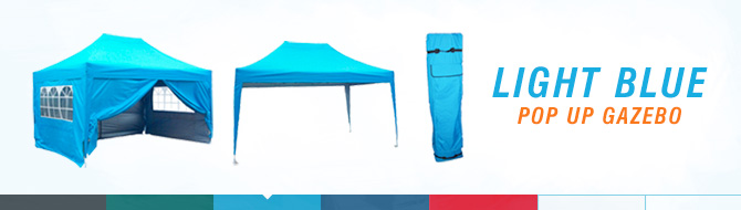 Quictent pop up gazebo - light blue