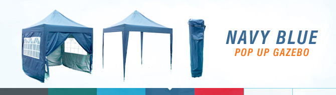 Quictent pop up gazebo - navy blue