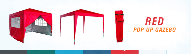 Quictent pop up gazebo - red