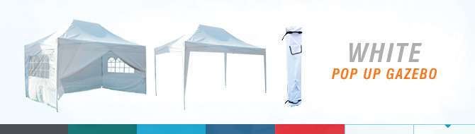 Quictent pop up gazebo - white